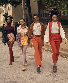 Retro Fashion More on The Zeal Life: 'Ignominy Prohibited,' A Fashion Vignette fashion editorial fashion - The Zeal Life Presents its first fall/winter editorial Ignominy Prohibited, A Fashion Vignette surrounding the beauty of black hair. 70s Outfits, Vintage Outfits, Cute Outfits, Fashion Outfits, Fashion Vintage, Vintage 70s, Fashion Ideas, Vintage Black Glamour, Fashion Tights