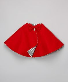 Red & Yellow Polka Dot Cape - Infant, Toddler & Girls