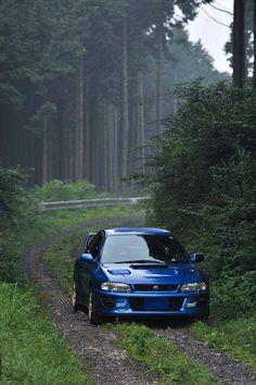 Subie Blue Riding Hood bringing rally aftermarket parts to Granma. Subaru Wrc, Subaru Impreza Sti, Subaru Sport, Gt Turbo, Jdm Wallpaper, Tuner Cars, Jdm Cars, Futuristic Cars, Japanese Cars
