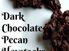 dark chocolate pecan haystacks