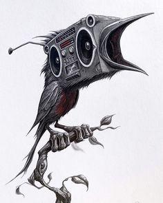 Trippy Drawings, Psychedelic Drawings, Dark Art Drawings, Arte Horror, Horror Art, Natur Tattoo Arm, Transférer Des Photos, Surrealism Drawing, Marijuana Art