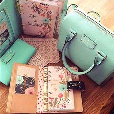 kate spade, purse, and ocean blue