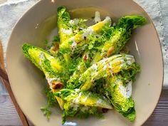 Hjertesalat med bakt hvitløksdressing Avocado Toast, Sour Cream, Squash, Broccoli, Dinner, Vegetables, Breakfast, Food, Travel