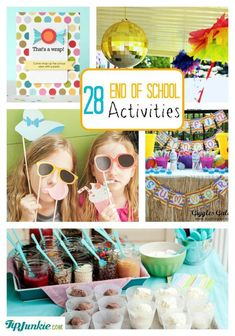 Fabulous and Fun End of School Activities to do with your kids and create new traditions and memories that last End Of Year Party, End Of School Year, School Fun, School Teacher, Back To School, School Ideas, School Daze, Senior Gifts, Kindergarten Graduation