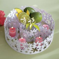 White Blossom Centerpiece by PartyLite® Candles