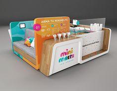 Kiosk Design, Cafe Design, Booth Design, Retail Design, Store Design, Pop Design, Exhibition Stall, Exhibition Stand Design, Paleterias Ideas
