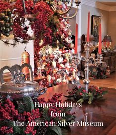 The American Silver Museum is a digital museum experience! Digital Museum, Happy Holidays, Victorian, Christmas Tree, American, Holiday Decor, Silver, Photography, Home Decor