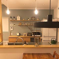 Kitchen/無印良品/ナチュラル/北欧/凸ランプ/シンプルライフのインテリア実例 - 2017-02-23 12:45:06