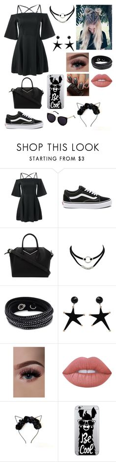 """Dress Contest"" by teddyrocks22 ❤ liked on Polyvore featuring Vans, Givenchy, Swarovski, Lime Crime and OTM Essentials"
