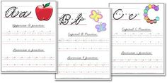 A-Z Cursive Handwriting Worksheets from Confessions of a Homeschooler