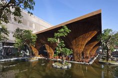 Kontum Indochine Café is designed as a part of a hotel complex along Dakbla River in Kontum City, Middle Vietnam.