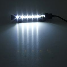 6 LED 5050 SMD Blue White Bar Light Underwater Submersible Waterproof Clip Lamp Decoration Lighting