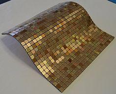 Amazon.com - FLEXIPIXTILE, Modern Aluminum Mosaic Tile, Peel & Stick, Backsplash, Accent Wall, 1 sq.ft., THE PALACE -