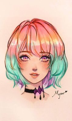 Cute and Different Manga Drawing Style and Ideas Part 51 Art Anime Kiss Anime 🦊 Manga Drawing Tutorials, Girly Drawings, Art Drawings Sketches Simple, Easy Manga Drawings, Colorful Drawings, Drawing Ideas, Kawaii 365, Kawaii Anime, Anime Face Drawing