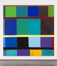 """Stanley Whitney, """"This Side of Blue"""" (2011), oil on linen 96 x 96 inches"""