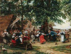 The Village Fete by Jean Charles Meissonier