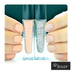 Yumi + Lynn = Pink glitter by Julep Polish...