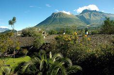 Imbabura mountain from El Monasterio de Cusin Ecuador.