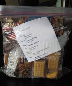 Kids 72 hr emergency prepardness kits including 3 day meal plan | Raising Lemons