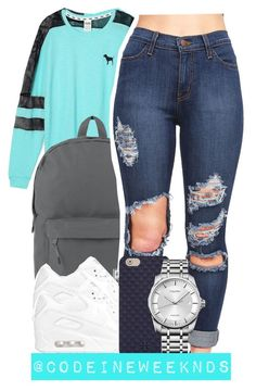 """11/30/15"" by codeineweeknds ❤ liked on Polyvore featuring Victoria's Secret, Herschel Supply Co., NIKE, Tory Burch and Calvin Klein"