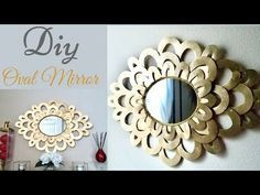 This Is a Wall Mirror Decor That is Simple to make at very low cost. This Wall Decor Brings out the Uniqeness of any wall and it is made on a Budget! Farmhouse Wall Mirrors, Wall Mirrors Entryway, Small Wall Mirrors, Rustic Wall Mirrors, Diy Mirror, Bathroom Wall Decor, Diy Wall Decor, Mirror Makeover, Mirror Bedroom