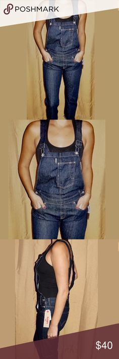 Women's Denim Levi's Overalls New with tags.  Purchased on here but they don't fit me well at all.  Size medium with 27inch inseam. levis Jeans Overalls