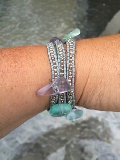 A personal favorite from my Etsy shop https://www.etsy.com/listing/454165922/wrap-bracelet-with-glass-beads-and