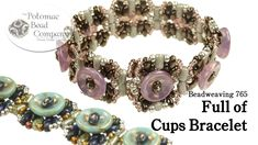 """This tutorial from The Potomac Bead Company teaches you how to make our """"Full of Cups"""" bracelet design, using Cup Buttons, SuperDuo Beads, Rulla Beads, and M..."""