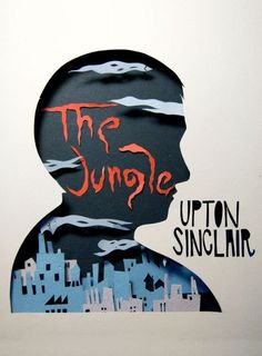Cut-out book cover. The Jungle by Upton Sinclair.