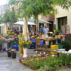 Auf dem Wochenmarkt in Santanyi. Urlaub auf Mallorca mit http://www.renatour.de