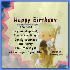 Bible verse birthday cards holiday themes pinterest christian happybirthdaybibleversecardthegoodshepherd m4hsunfo