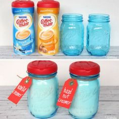 47 Amazing Life Hacks - Coffee Mate Lids - Add a handy dispenser cap to your Mason jars by using Coffee Mate lids.