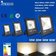 Led Flood Light Outdoor Spotlight Floodlight 10W 20W 30W 50W Wall Washer Lamp Reflector IP65 Waterproof Garden 220V RGB Lighting  Price: 16.55 USD
