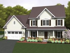 ePlans Country House  Plan – Country Homestead – 2244 Square Feet and 4 Bedrooms from ePlans – House Plan Code HWEPL77057