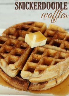 Snickerdoodle Waffles on MyRecipeMagic.com