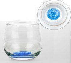 Chakra 5 Drinkglas met affirmatie Creativiteit