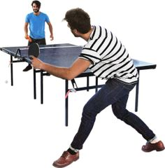 playing table tennis | from Skal Gubbar, a growing collection of cutout people by architecture student Teodor Javanaud Emdén
