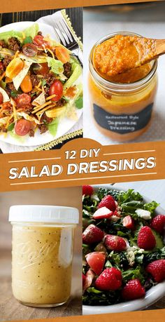 12 Addictive Salad Dressing Recipes To Make In Bulk – salad-recipes. Salad Dressing Recipes, Salad Recipes, French Salad Dressings, Avocado Recipes, Fruit Recipes, Pasta Recipes, Creamy Balsamic Dressing, Ketchup, Sauces
