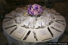 Pink and Purple lush #floral #centerpiece from a New York #wedding - designed by @xquisiteflowers