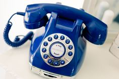 Ruffled® |Navy Blue Vintage-Style Telephone - not sure what I'd use it for, but I'd like to