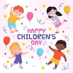 Graphic Design Templates, Modern Graphic Design, Child Day, Happy Kids, Free Design, Vector Free, Print Design, How To Draw Hands, Creative