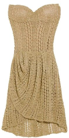 Strapless dress proving crochet is not just for grannies!