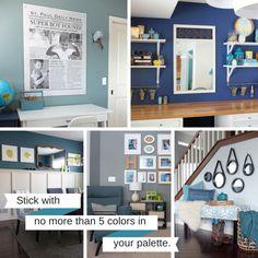 7 Steps to Create a Whole House Color Palette | tealandlime.com