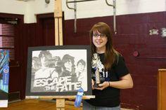 Senior year, first award at art show