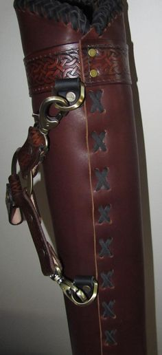 Leather Quiver Archery Quiver Arrows by EarthlyLeatherDesign, $150.00