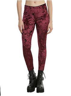 Soooo velvety // Blackheart-Burgundy Velvet Leggings