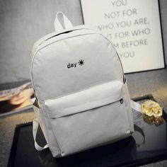 2016 Hot Canvas Backpack Fashion Boys & Girls School Bag Pack Day& Night Embroidery Rucksack Causal Shoulder Bag Mochila XA1251B