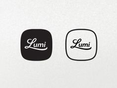 Black and white Lumi logos by Stéphan Angoulvant. Design Logo, Graphic Design Typography, Branding Design, Ad Design, Typography Logo, Logo Branding, Lettering, Art Logo, Brand Identity