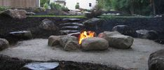 (Landscape Designers & Landscape Contractors in New Hampshire) Fire Pit Bbq, Cool Fire Pits, Diy Fire Pit, Fire Pit Backyard, Landscaping With Rocks, Backyard Landscaping, Landscaping Ideas, Patio Ideas, New Hampshire