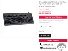 Best Deals on Cherry G80-3000 MX Keyboard w Blue Keyswitch CHG80-3000LSEB-UK. QuickPOS selling at $91.60, we deals service to only Australia..!  http://www.quickpos.com.au/consumables-keyboards-parts-chg80-3000lseb-uk